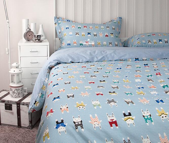 2015 new 100 cotton cartoon kids bedding set ikea casa. Black Bedroom Furniture Sets. Home Design Ideas