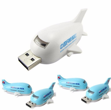 Promotional 2GB 4GB USB With Custom Logo Plastic Plane Shape 8Gb 16GB Usb 2.0 Flash Drive Pen Drive Memory Stick Usb Flash Disk