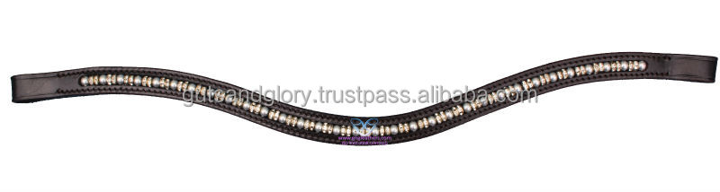 Leather Pearl Browband
