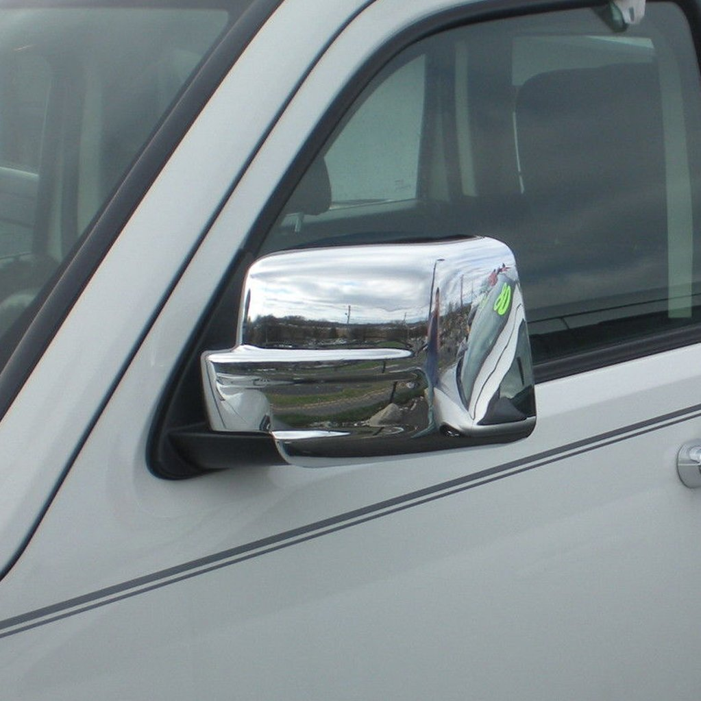 E-Autogrilles Triple Chrome Plated ABS Mirror Covers for 08-12 Jeep Liberty / 07-16 Jeep Patriot / 07-11 Dodge Nitro (65-0205)
