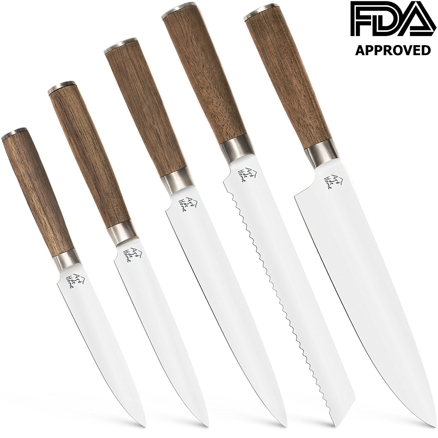 Get Quotations Kitchen Knife Set Wood Walnut Stainless Steel Gifts