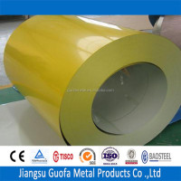 China Supplier RAL 1018 Zinc Yellow Color Coated PPGI Steel Sheet