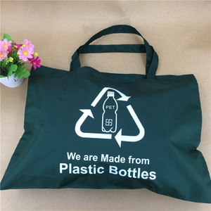 rPET recycle eco friendly bottle bag foldable grocery shopping bag