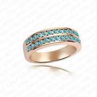 201 2014 fashion hight quality inlay diamond jewerly copper rings