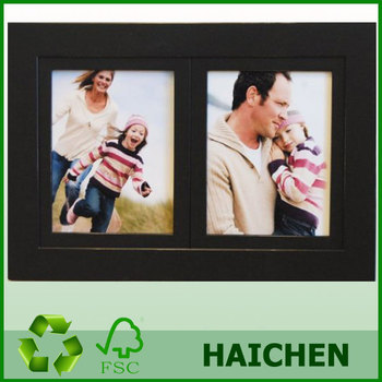 2 Opening 8x10 Black Wood Collage Picture Frame Multi Picture