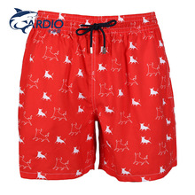 red printed hot sale board shorts sex men swimming trunks swimming suit for men