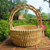 wholesale cheap storage shopping willow baskets for fruits gifts linyi