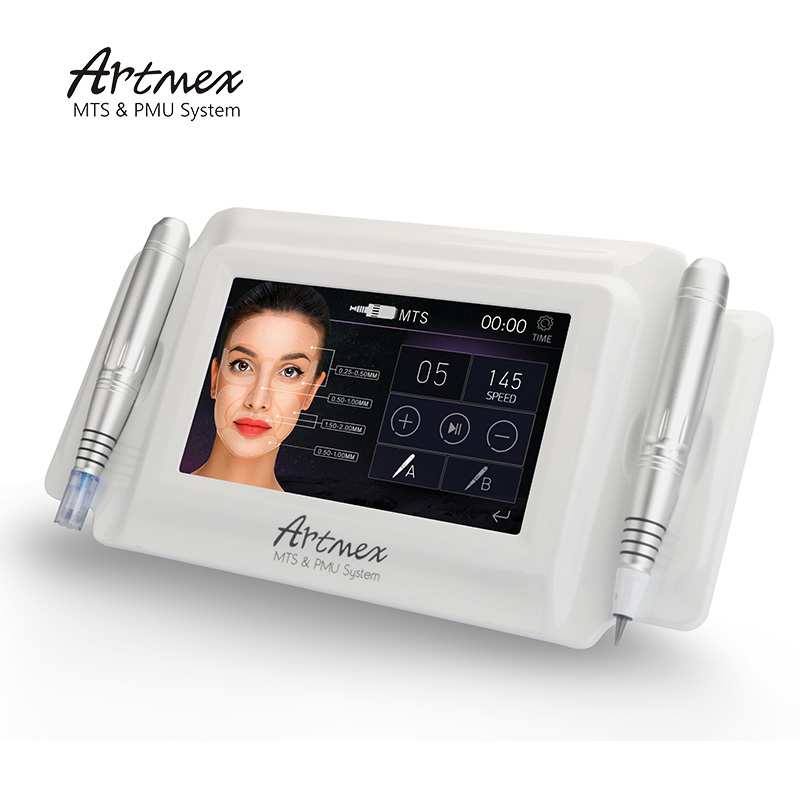 Alibaba.com / EKAI factory direct Artmex V8 digital semi permanent makeup tattoo machine for professional use with 2 hand pieces