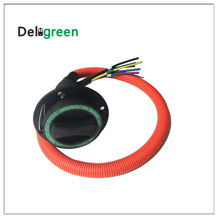 2018 Duosida 16a Ev Car Car Manufacturer Portable Charger Type 1 Type 2 Coiled Evse