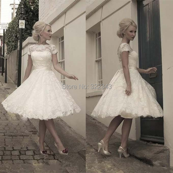 Short Sleeve Simple Wedding Dress: Aliexpress.com : Buy 2015 Petite Lace White Ball Gown