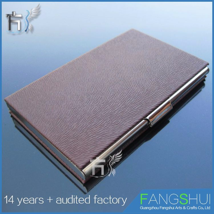 Customized vintage metal business brand name card case holder on sale