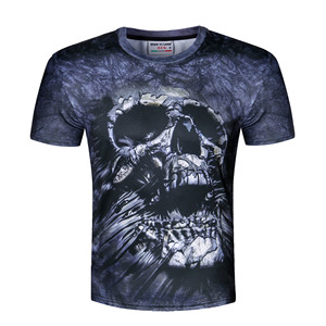 Custom Printed 3D T-shirts Men Readymade Garments Digital Print Shirts For Man