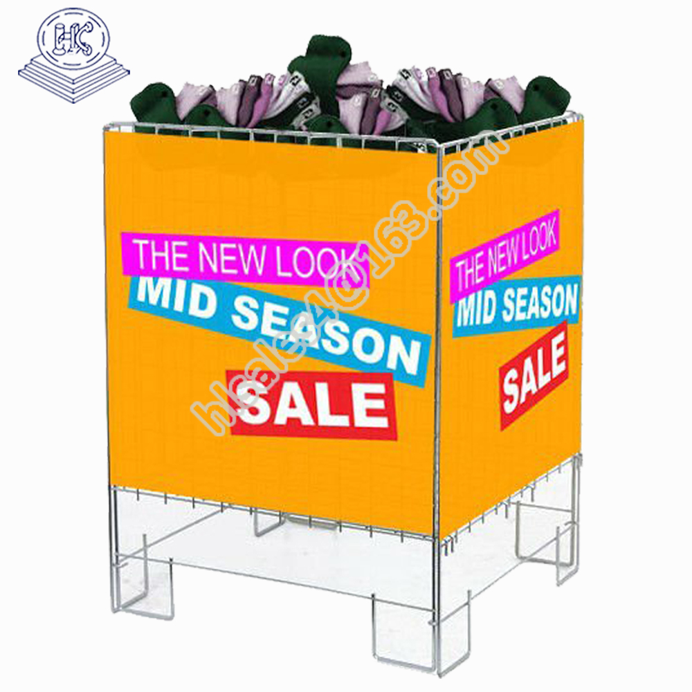 hot sale foldable durable wire display pedestals with shop use