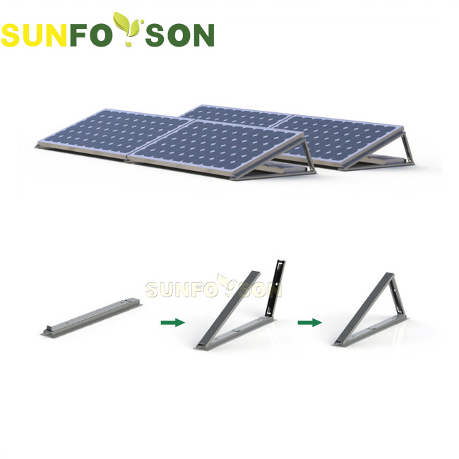 Large commercial or factory use flat roof mounting 1MW solar energy system