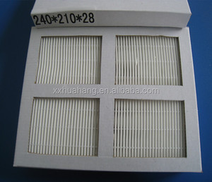 High Efficiency Capacity Deep Cardboard Frame Mini Pleat F7 Air Filter On Sale