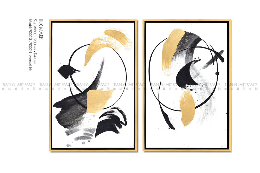 Abstract Framed Artwork with Modern Style Painted on Canvas for Wall Decor