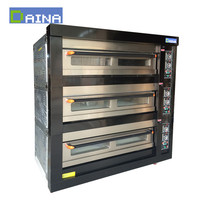 bakery equipment of electric bread baking oven 3 decks 6 trays cake oven