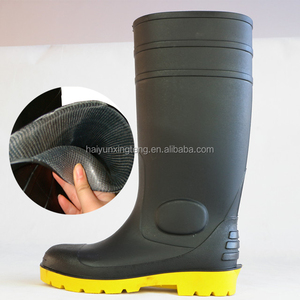 Durable Black safety rain boots,Durable fit safety rain boots,work place used safety rain boots