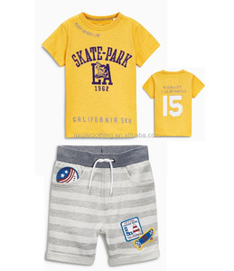 summer boy t shirt children shorts, children set striped, toddler boy Cotton shorts and tee