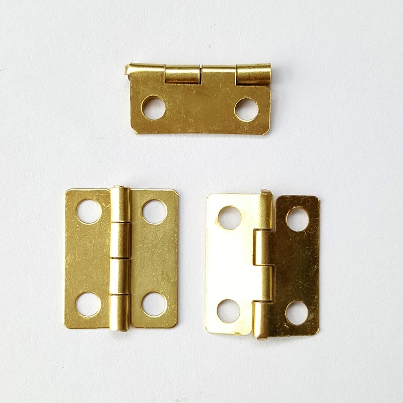 18x15mm wholesale Small Brass bronze Metal Hinges for Wooden Plated  jewellery Craft Gift Box Fix