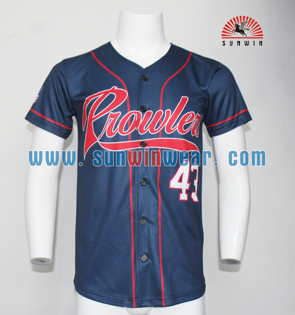 Team Sports Sports & Entertainment Customized Design For Mens Sublimated Sportswear Training Jersey Baseball Shirts Button Down Design On Line Shirt Stiched Last Style