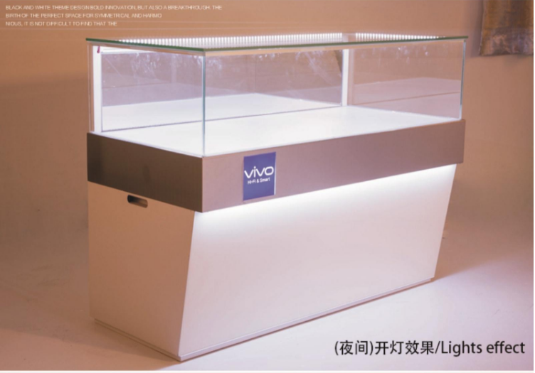 Superior Oppo Cell Phone Counter Design For Sale Mobile Phone Display Cabinet
