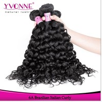 Factory piece wholesale grade 6a brazilian natural curly hair