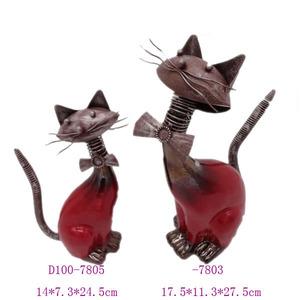 Home decor ceramic cat figurines,wholesale cat figurine glazed ceramic cat