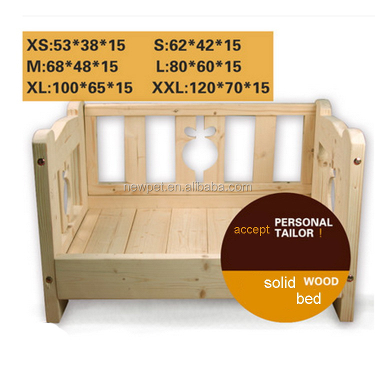 Good reputation hot sale three sides guardrail house handmade wooden durable pet dog house