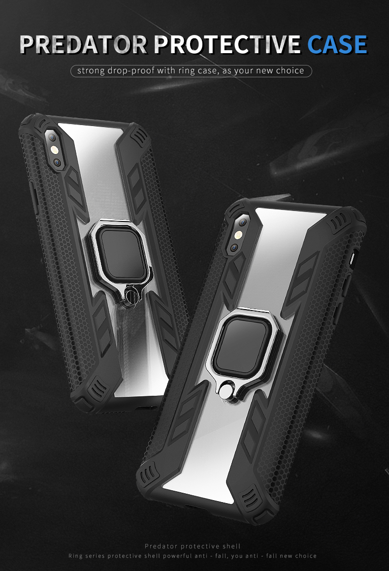 Popular New Design shockproof kickstand translucence magnetic phone case for Samsung Galaxy S10 Plus Back Cover