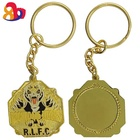 Hot sale fashion sublimation blank royal enfield floating crystal acrylic key chain with key chain ring