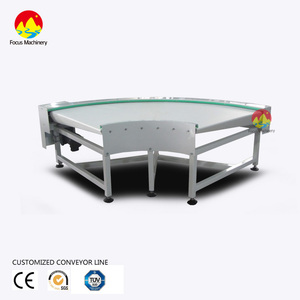 90 degree 180 degree turning roller conveyor