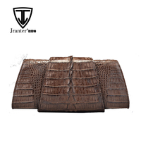 Luxury Fashion Handmade Genuine Crocodile Leather Women Clutch Bag