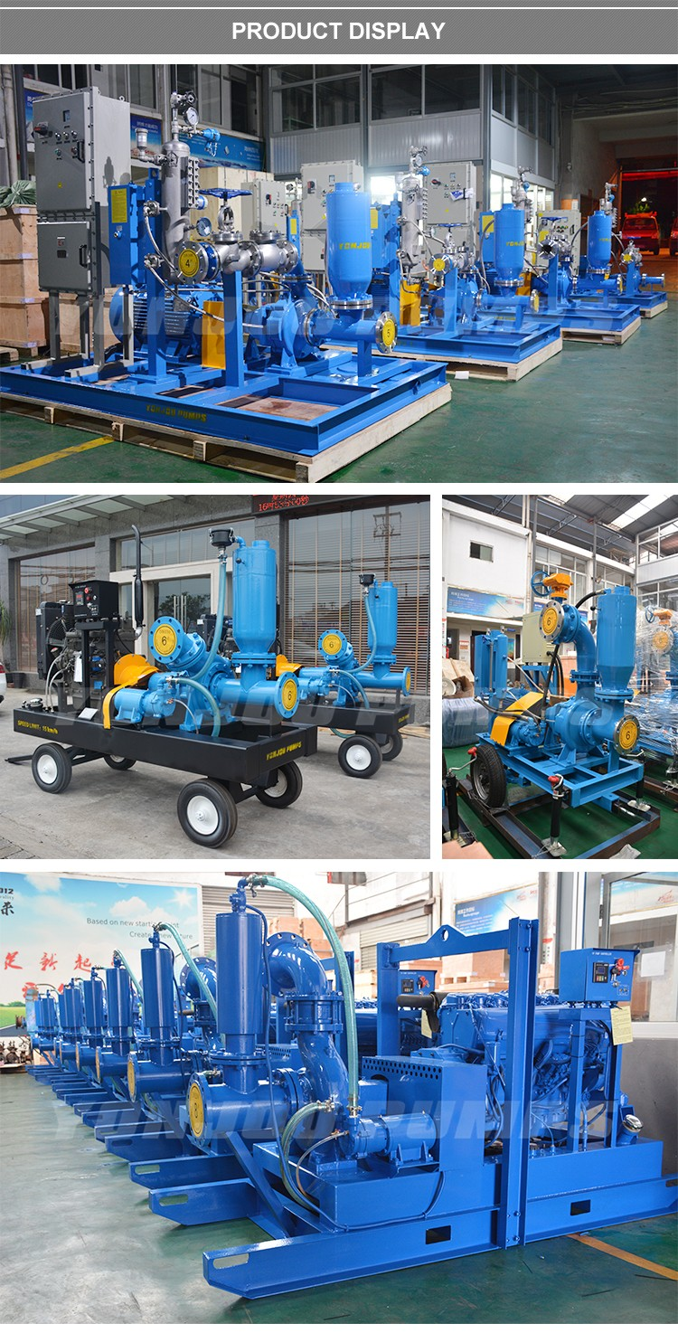 9.5m self-priming suction 6 inch 8 inch Dry Running mine dewatering wellpoint slurry pump