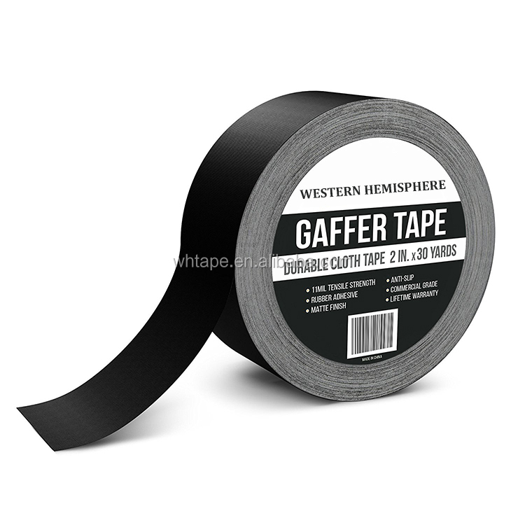 Black gaffer tape for arts and entertainment industry