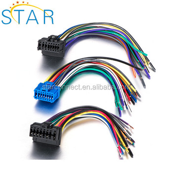 Factory supplied Sony Pioneer automotive stereo iso wiring harness ... 16 pin car audio connector diagram Alibaba.com