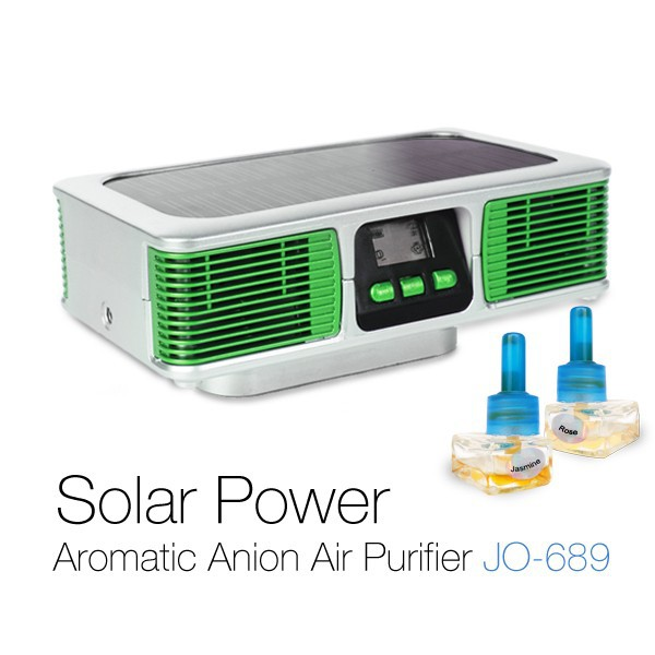 Solar Power Car Air purifier JO-689(CE,FCC,RoHS)