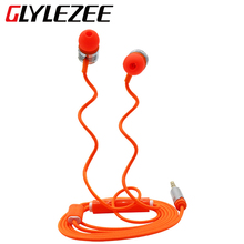 2015 New Best Selling Stereo 3.5mm Wire Versatile In Ear Earphone Candy Color Cellphone Headset With Mic For Mobile Cellphone