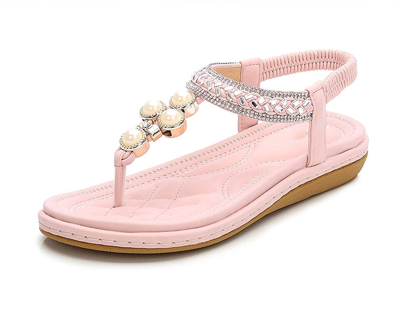 Cool Cj Women Sandals Summer Women Shoes Flip Flops Women Flat Sandals with Rhinestone  Bohemian Ladies Flat Shoes Z3 a8553ec5f8d8
