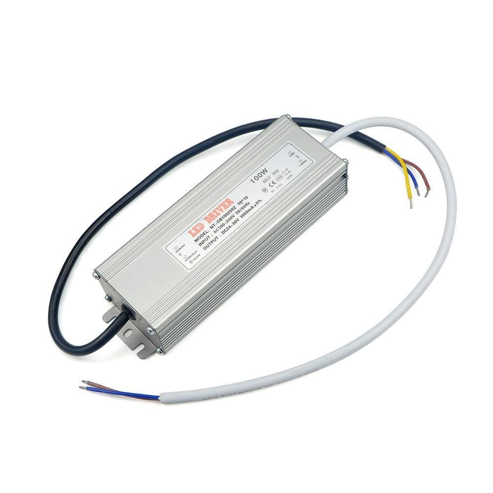 Xligo LED Driver 100W Lighting Transformer AC 85-265V to DC 24-36V Power Supply Adpter for Flood Light Garden Floodlight Lawn Lamp