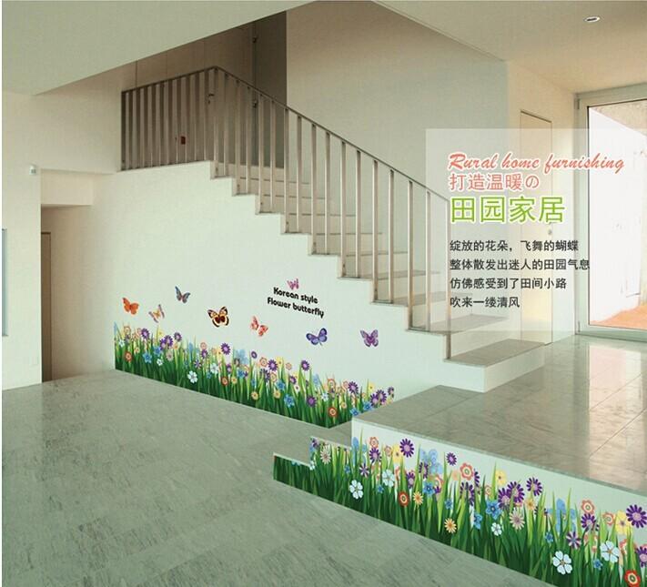50 stück schmetterling& flower dekorative tapeten an den Wänden ...