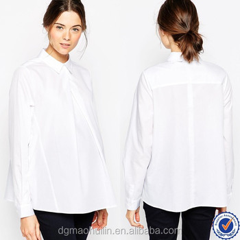 92dfeed917b2c maternity clothes wholesale maternity wear white maternity work shirt with button  side