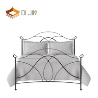 contemporary luxury royal king metal bed hotel apartment wrought iron double bed cot
