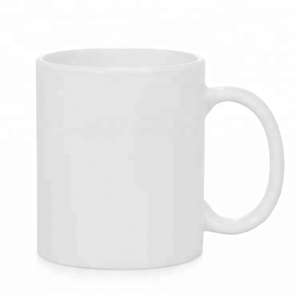 7102 round full plain white ceramic mug for drinking