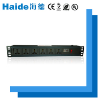 A 220v 10ka PDU 6 outlet DIN rail electrical industrial power surge protector