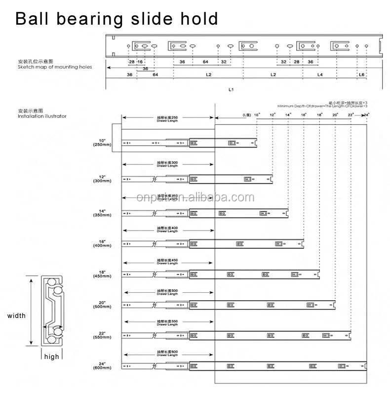 35mm  drawer slide 1