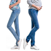 Elastic Waist Maternity Jeans Pants For Pregnancy Clothes For Pregnant Women Legging Autumn / Winter 2014 Maternity Plus Size