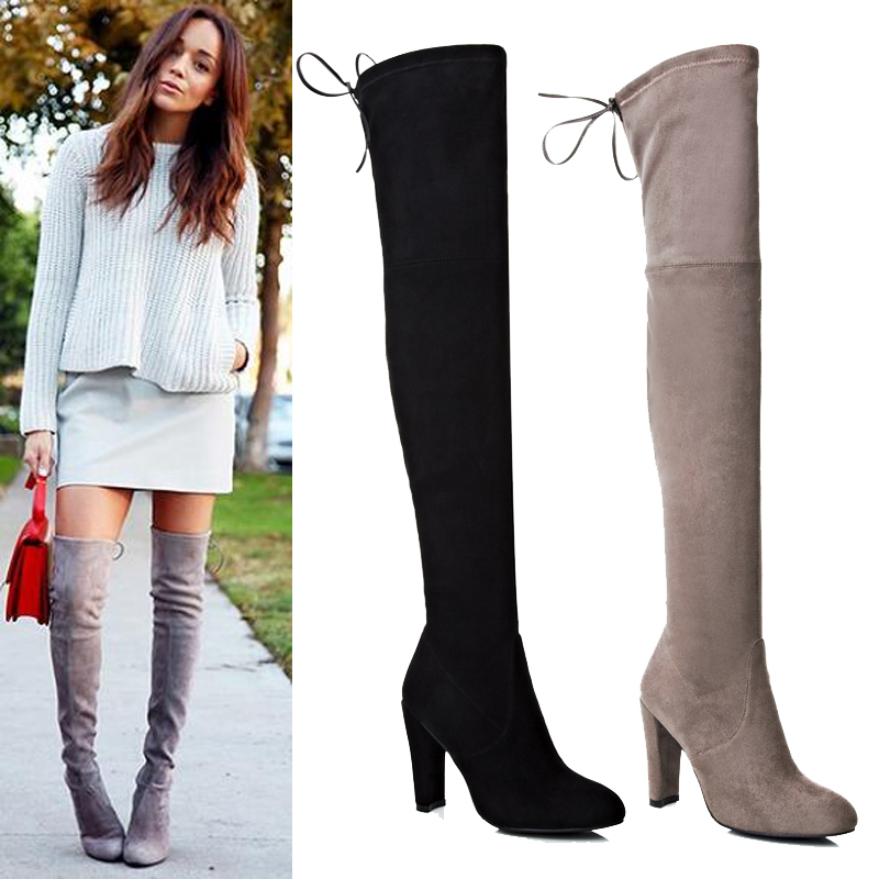aa23611fafb4 Thigh High No Heel Boots - Yu Boots