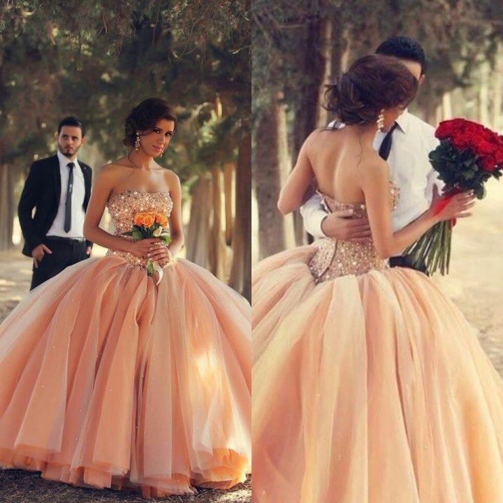 Wedding Ball Gowns 2014: New Sexy Sweetheart Organza Ball Gown Wedding Dresses 2014
