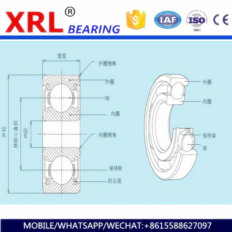 high performance making simple deep groove ball bearing 1602 rs